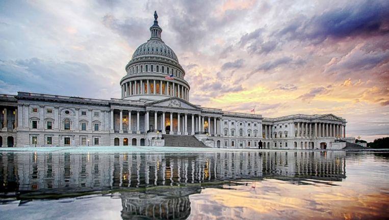The Capitol in Washington DC, waar het Amerikaanse Huis van Afgevaardigden zetelt.