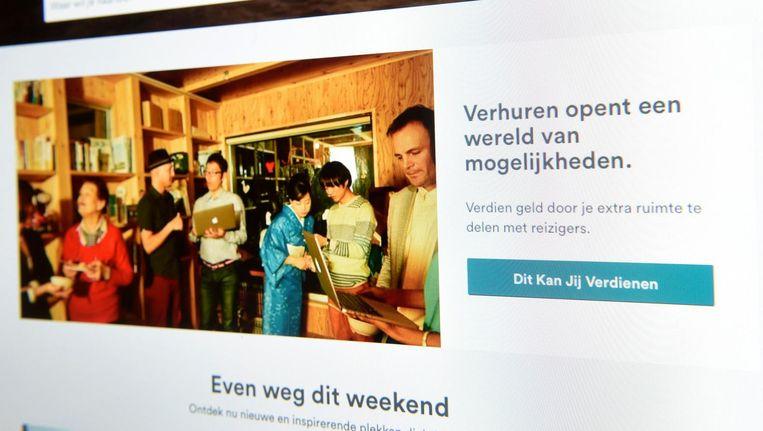 Via de website van Airbnb kan iedereen een kamer verhuren.