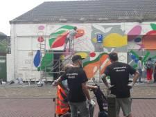 Muurschildering voor Tielse Marktgang