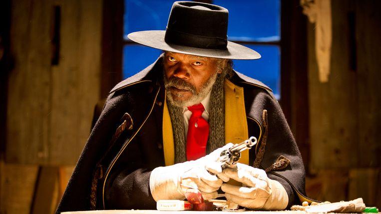 Samuel L. Jackson als premiejager Marquis Warren in The Hateful Eight. Beeld
