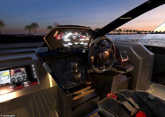 Het interieur doet eveneens sterk denken aan de straatauto's van Lamborghini