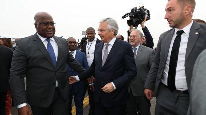 Tshisekedi geland op luchthaven van Melsbroek en toegejuicht door honderden sympathisanten