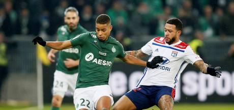 Olympique Lyon in blessuretijd voorbij rivaal Saint-Étienne