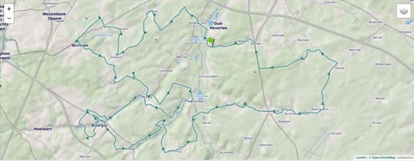 De Brabantse Pijl Cycling Route
