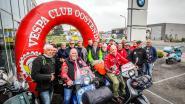 Vesparijders krijgen 1.000 euro in Oostenrijk in de laatste rechte lijn van een rit van 8000 kilometer voor de MUG-heli