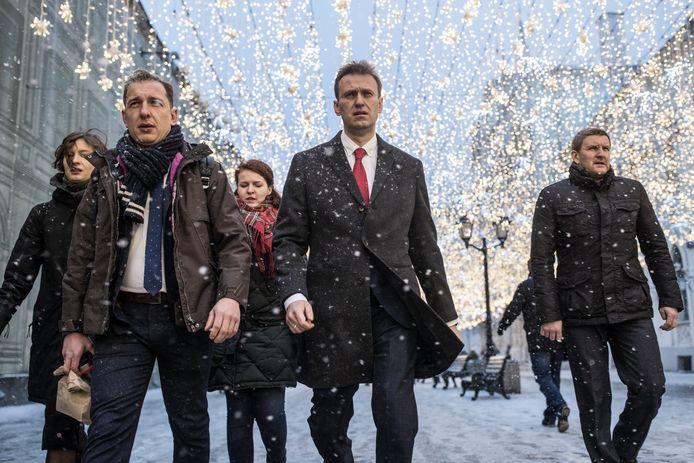 Alexej Navalny (midden) in 2017.