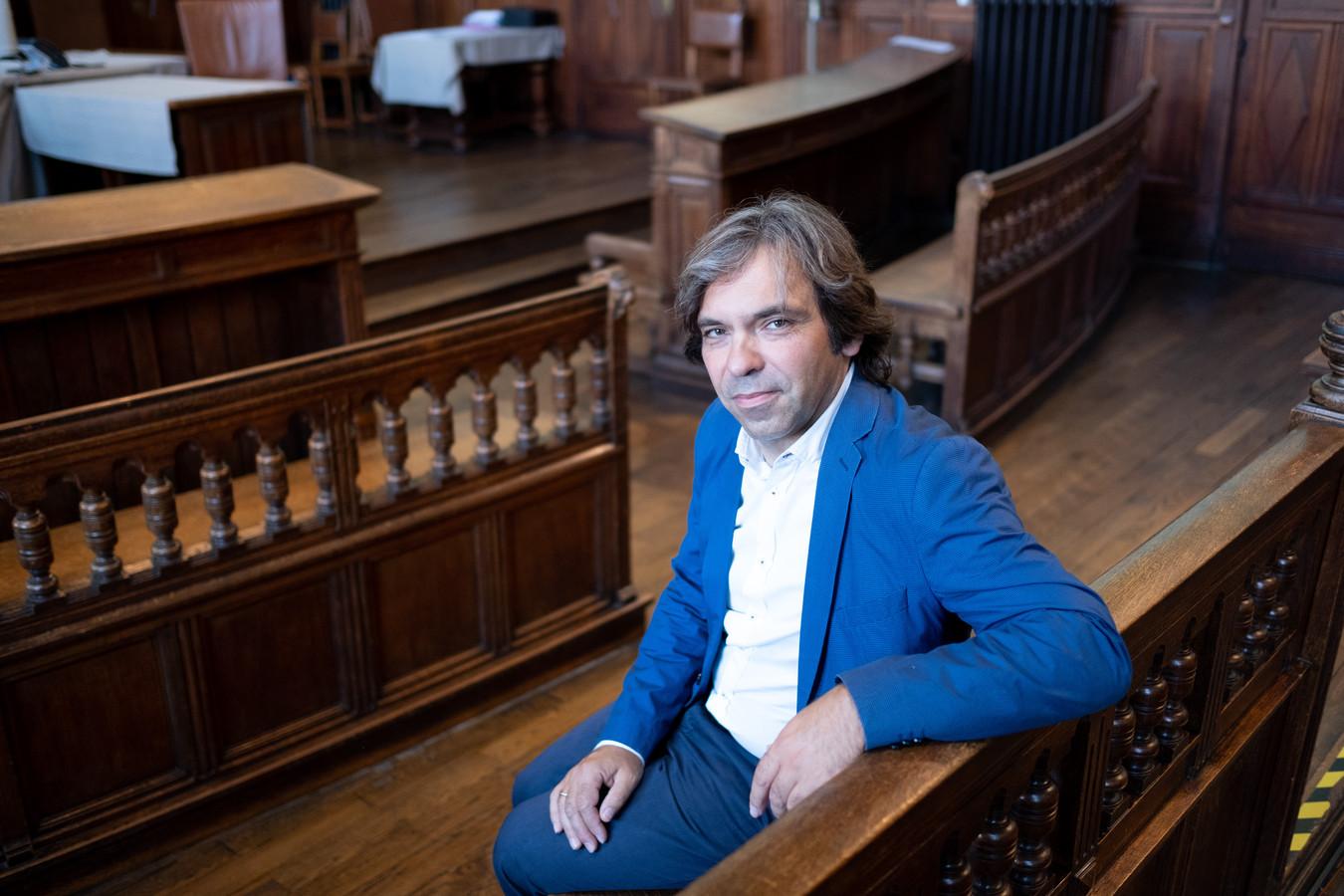 Afdelingsvoorzitter Theo Byl in de correctionele zittingszaal van de rechtbank in Mechelen.