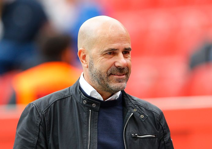 Bayer Leverkusen-trainer Peter Bosz.