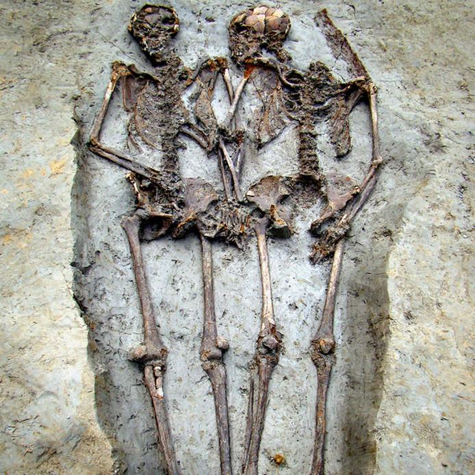 De skeletten werden tien jaar geleden gevonden