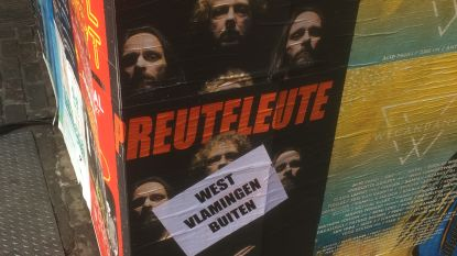Mop, discriminatie of promostunt? Affiches van Preuteleute in Gent beplakt met boodschap 'West-Vlamingen buiten'