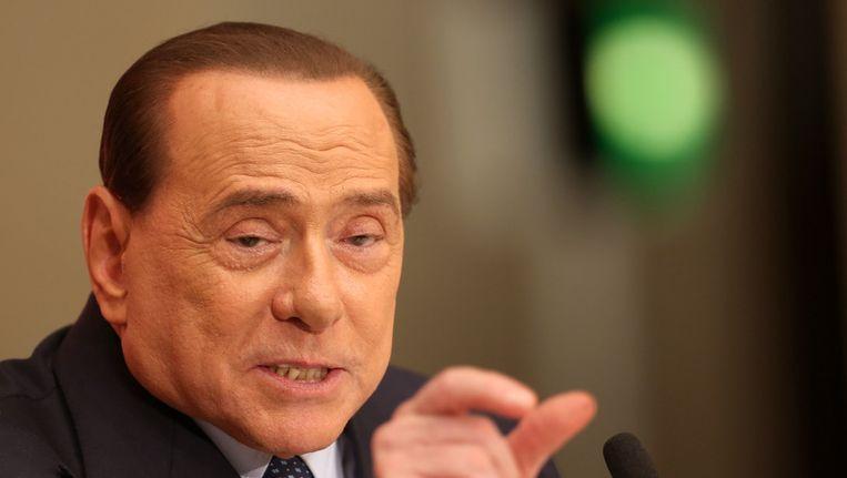 Oud-premier van Italië Silvio Berlusconi in Rome in 2013. Beeld getty