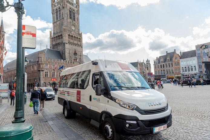 De gratis shuttlebus in Brugge.
