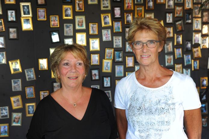 Hannie Jaspers (links) en Anita van der Draai.