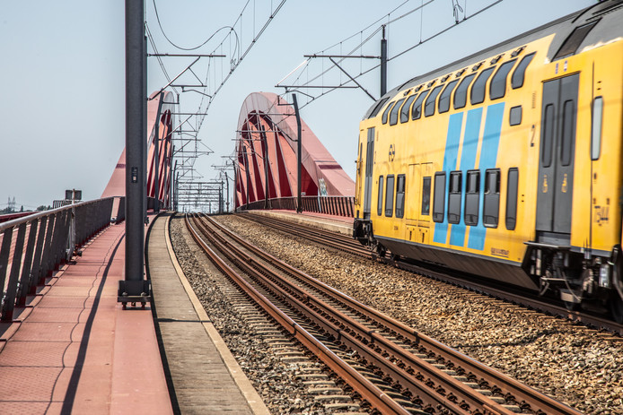 Foto ter illustratie, dit is niet de gestrande trein.