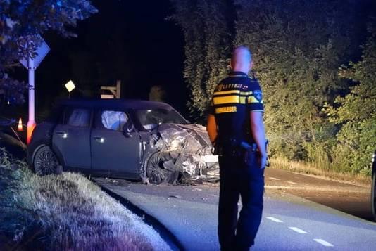 De situatie bij Lunteren kort na het ongeval.