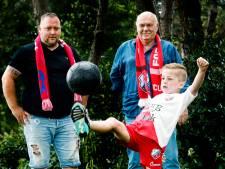 Drie generaties FC Utrecht supporters in één familie: 'Het gaat niet alleen om het voetbal, maar ook om het samenzijn'