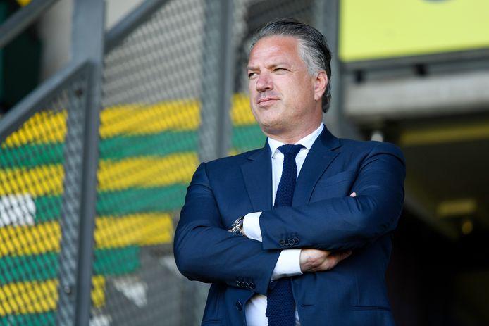 Mattijs Manders is nu nog directeur bij ADO, maar gaat per 1 juli aan de slag bij de Eredivisie CV.