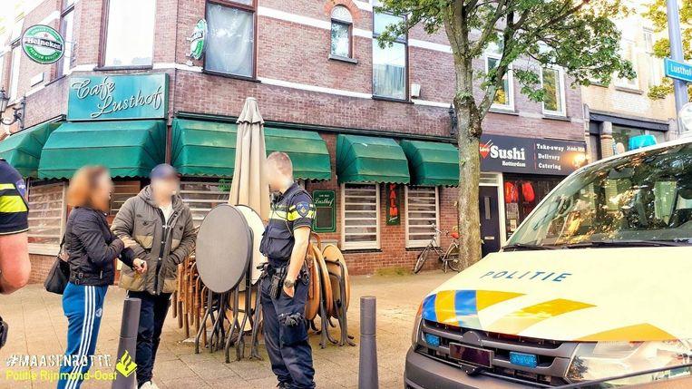 De tweede inbreker werd aangehouden in de tuin van het café.