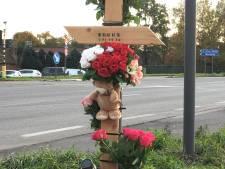 """Kinderen plaatsen kruis op plek waar Truus (72) verongelukte en hebben duidelijke boodschap: """"Stop die gsm weg als je rijdt"""""""
