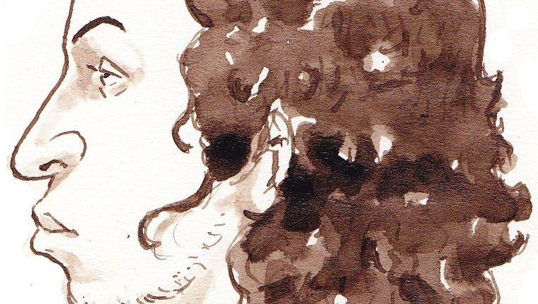 Compositietekening van Oussama C. Beeld ANP
