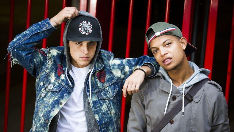 De rappers Lil' Kleine en Ronnie Flex Beeld anp