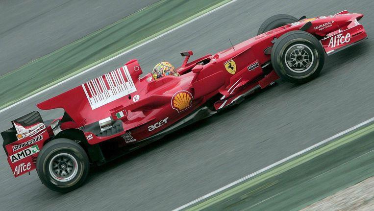 De Ferrari F2008 F-1 van Valentino Rossi. Beeld EPA