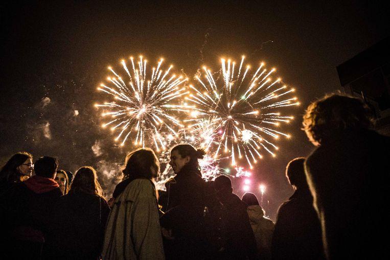 Met een prachtig vuurwerk wordt het nieuwe jaar ingezet.