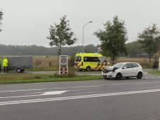 Twee auto's en scooter botsen tegen elkaar op N18 bij Lievelde