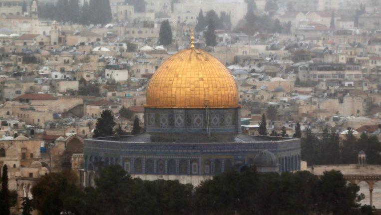 De Rotskoepel is een islamitische schrijn op de Tempelberg in Jeruzalem. Beeld reuters