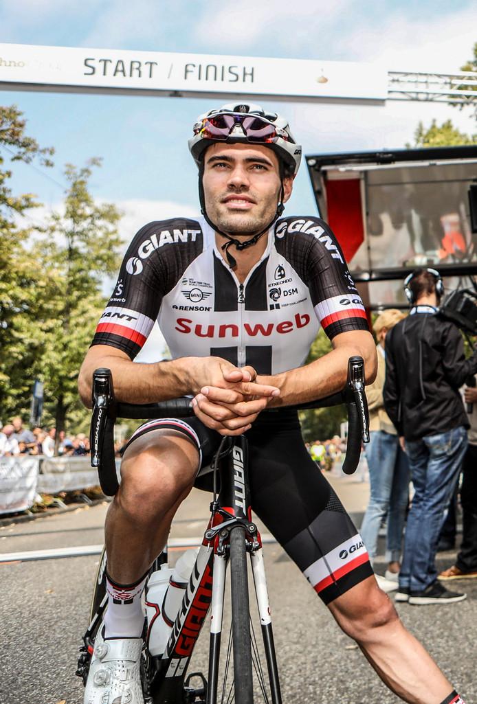 Tom Dumoulin voor de start van de afgelopen editie van de Profronde Etten-Leur.