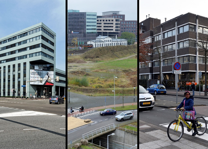 De drie locaties die nu nog op tafel liggen hebben allemaal zo hun voor- en nadelen als plek voor een nieuw danwel gerenoveerd stadhuis.