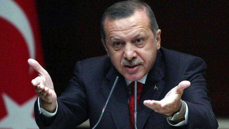 De Turkse premier Recep Tayyip Erdogan Beeld AFP
