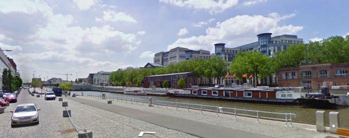 De Akenkaai in Brussel.
