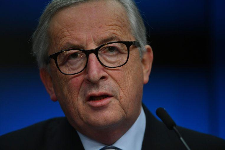 De voorzitter van de Europese Commissie, Jean-Claude Juncker.