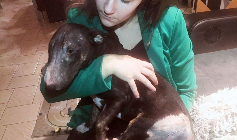 Tessa Cnops in betere tijden met haar hond.