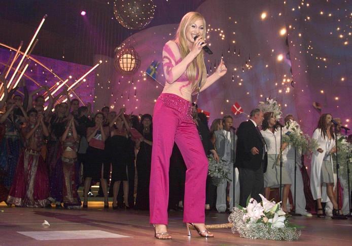 De Zweedse Charlotte Nilsson won het songfestival in 1999.