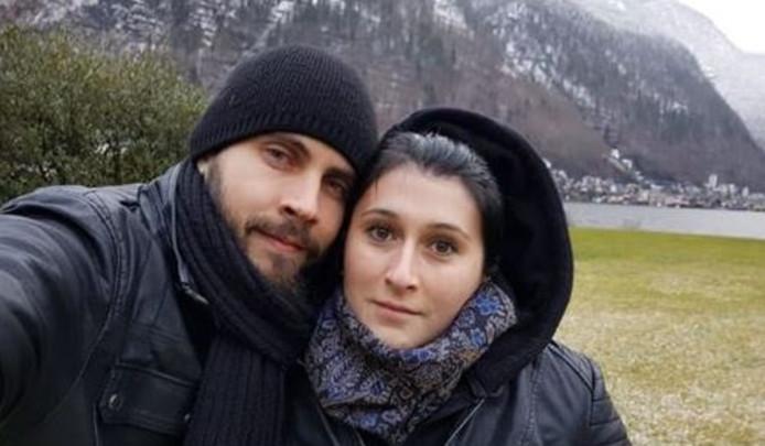 Cristian Barbu en zijn vriendin Raluca. ,,Alles ging goed met hem.''