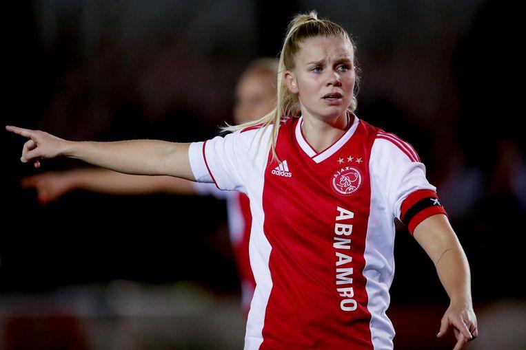 Kika van Es afgelopen seizoen tijdens een wedstrijd tegen PSV. Beeld BSR Agency