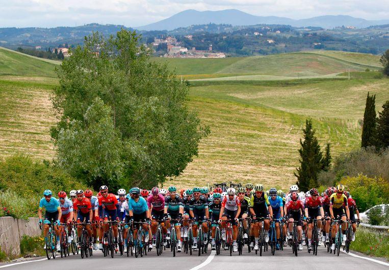 Het Giro-peloton hield een snipperdag.