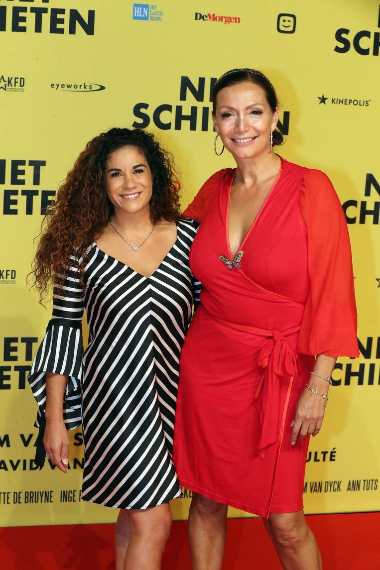 Martine Prenen en goede vriendin Jucy