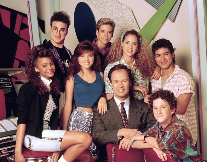De originele cast van Saved by the Bell.