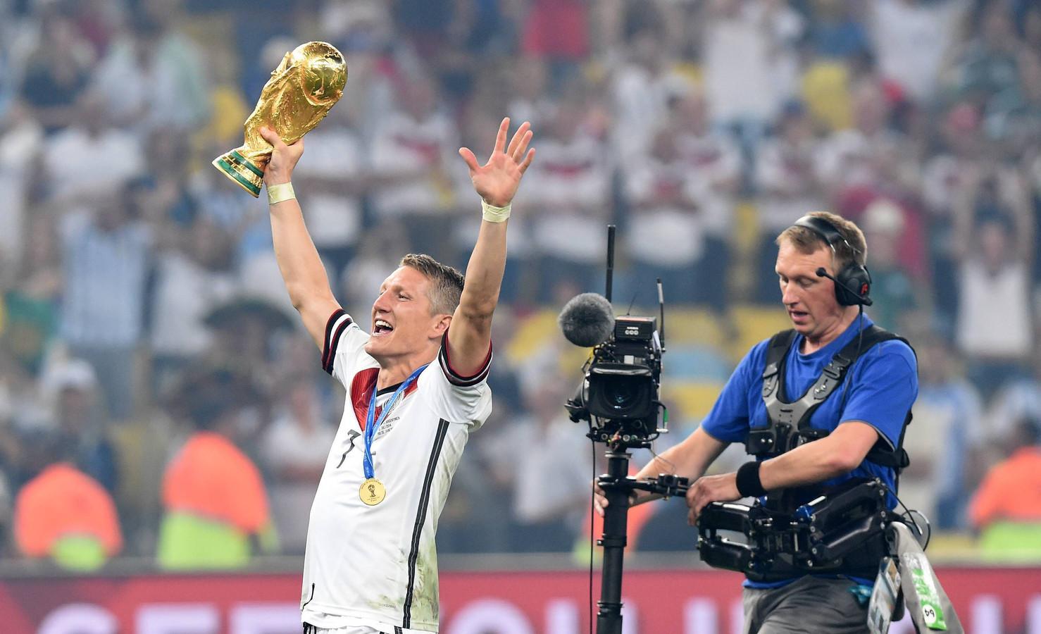 Bastian Schweinsteiger werd met Duitsland wereldkampioen in 2014.