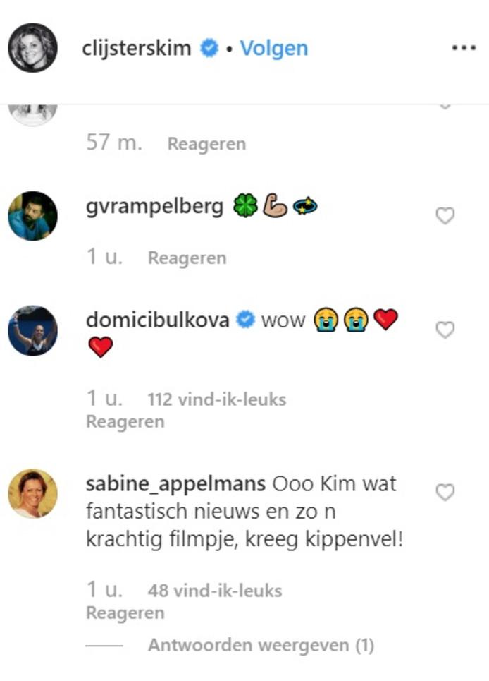 Réactions sur Instagram