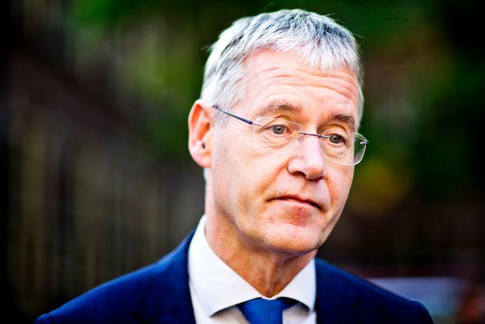 Arie Slob (ChristenUnie), minister voor Basis- en Voortgezet Onderwijs en Media na de wekelijkse Ministerraad.
