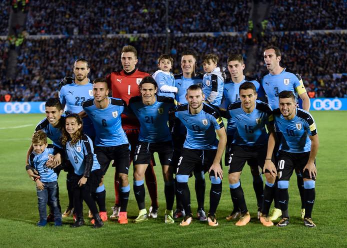 De basiself van Uruguay voor het duel met Bolivia (4-2 winst).