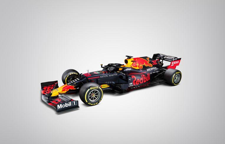 De woensdag gepresenteerde nieuwe Red Bull Racing-wagen. Beeld Thomas Butler / Red Bull Content Pool