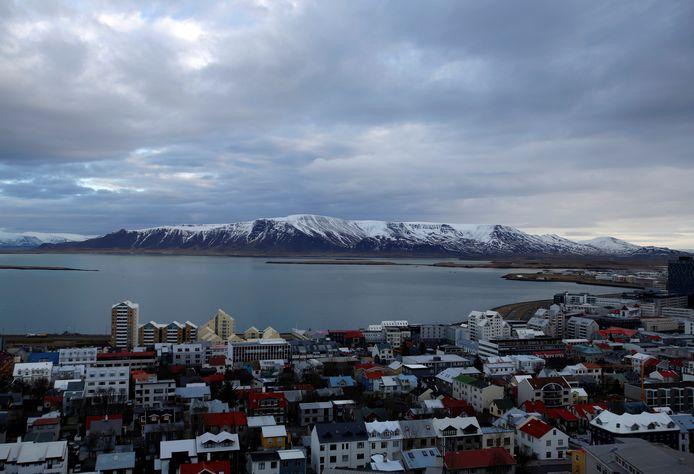 Zicht op de IJslandse hoofdstad Reykjavik.