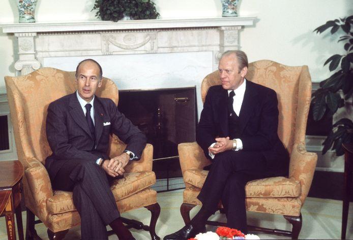 Valéry Giscard D'Estaing bracht in 1976 een staatsbezoek aan de VS. Op het Witte Huis had hij een onderhoud met toenmalig Amerikaans president Gerald Ford.