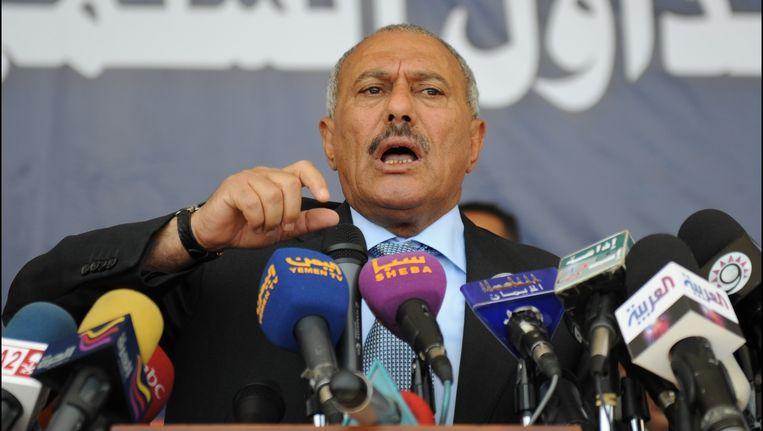 Voormalig president van Jemen, Ali Abdullah Saleh.