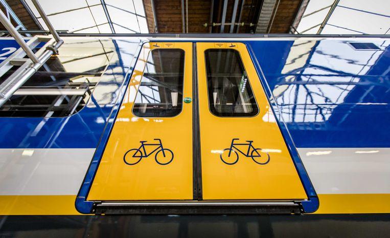 De nieuwe Sprinter waar de Nederlandse Spoorwegen er 118 van heeft besteld bij de Spaanse fabrikant CAF. Beeld ANP